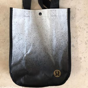 Lululemon plastic bag. Black and grey.